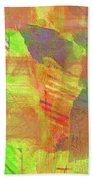 Untitled #13 Abstract Multicolor Beach Towel