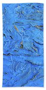 Untitled-weathered Wood Design In Blue Beach Towel