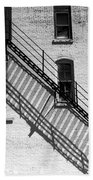 Up The Fire Escape Abstract Beach Towel
