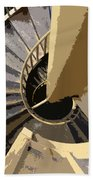 Up The Spiral Staircase Beach Towel