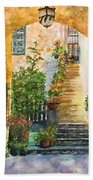 Up The Stone Staircase Beach Towel