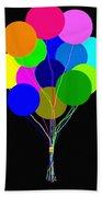 Upbeat Balloons Beach Towel