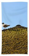 Upon The Roof Beach Towel