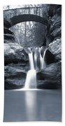Upper Falls Hocking Hills Ohio Beach Towel