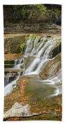 Upper Gorge Falls Of Enfield Glen In Treman State Park Beach Towel