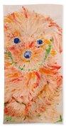 Upright Puppy Beach Towel