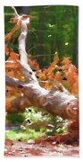 Uprooted Trees Beach Towel