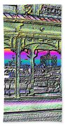 Urban Boat Landing Beach Towel