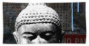 Urban Buddha 4- Art By Linda Woods Beach Sheet