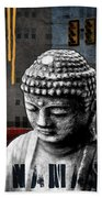 Urban Buddha  Beach Towel by Linda Woods