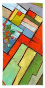 Urban Composition - Abstract Zoning Plan Beach Towel