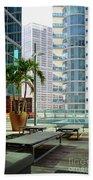 Urban Landscape, Miami, Florida Beach Towel