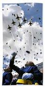 U.s. Air Force Academy Graduates Throw Beach Towel by Stocktrek Images