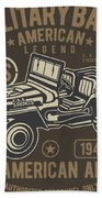 Us American Amry Jeep Beach Towel