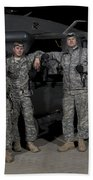 U.s. Army Crew Chiefs Pose In Front Beach Towel
