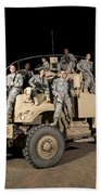 U.s. Army Medical Personnel Pose Beach Towel