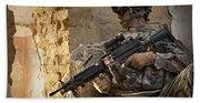 U.s. Army Ranger In Afghanistan Combat Beach Towel