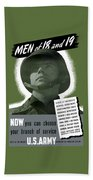 Vintage Us Army Recruiting Poster Beach Towel