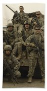U.s. Army Soldiers Pose For A Photo Beach Towel