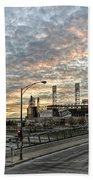 Us Cell Sunset Beach Towel