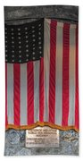 Us Flag At Whiteface Mountain Ny Beach Towel