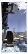 U.s. Navy Petty Officer Leans Beach Towel