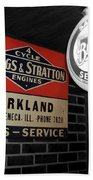 Us Route 66 Briggs And Stratton Signage Sc Beach Towel