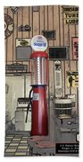 Us Route 66 Smaterjax Dwight Il Gas Pump 01 Pa 02 Beach Towel