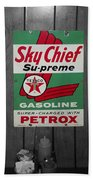 Us Route 66 Smaterjax Dwight Il Sky Chief Supreme Signage Beach Towel