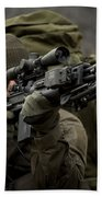 U.s. Special Forces Soldier Armed Beach Towel