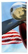 Usa Flag Bomber Wwii  Beach Towel