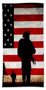 Usa Military Beach Towel