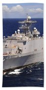 Uss Comstock Transits The Indian Ocean Beach Towel