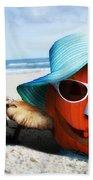 Vacationing Jack-o-lantern Beach Towel