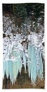 Vail Ice Falls Beach Towel