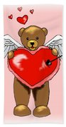 Valentine Bear Beach Towel