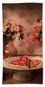 Valentine Cookies Beach Towel