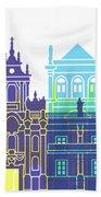 Valladolid Skyline Pop Beach Towel
