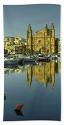Valletta Reflected  Beach Towel