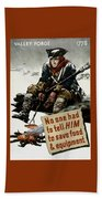 Valley Forge Soldier - Conservation Propaganda Beach Towel