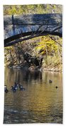 Valley Green Bridge Beach Towel by Bill Cannon
