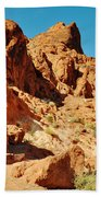 Valley Of Fire Cabin Beach Towel
