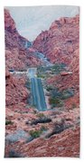 Valley Of Fire Drive Beach Towel