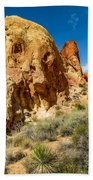 Valley Of Fire - Face In The Rock Beach Towel