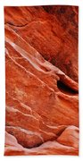 Valley Of Fire Mouse's Tank Sandstone Wall Portrait Beach Towel