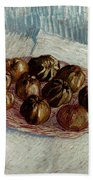 Van Gogh: Apples, 1887 Beach Towel