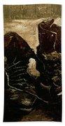 Van Gogh Boots 1886 Beach Towel