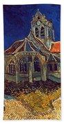 Van Gogh: Church, 1890 Beach Sheet