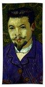 Van Gogh: Dr Rey, 19th C Beach Towel