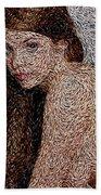 Van Gogh Eyes Beach Towel